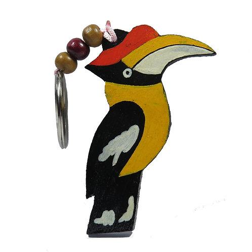 Hornbill Bamboo Keychain