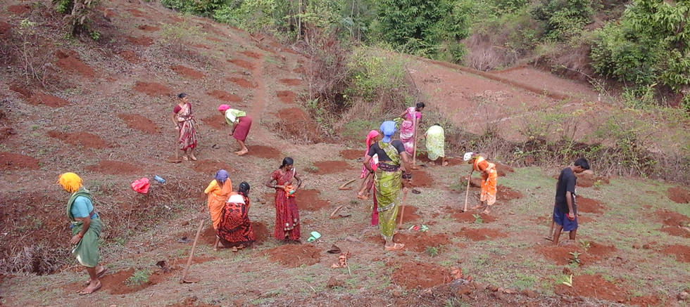 Pit Digging with the Help of Local People