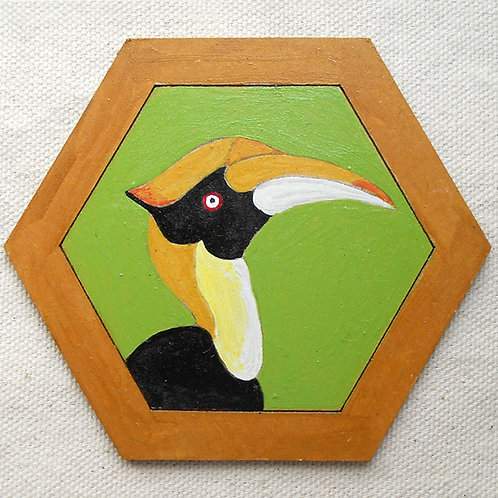 Hexagonal Hornbill Coaster