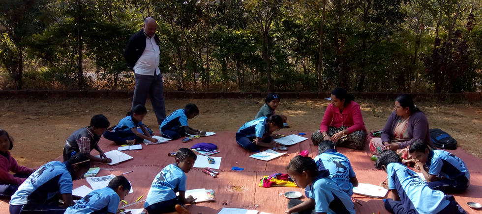Drawing Competition at Bopoli