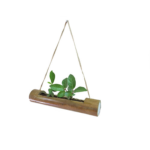 Bamboo Hanging Planter