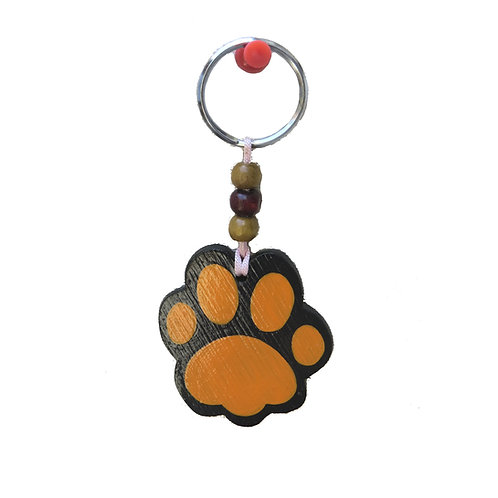 Tiger Paw Bamboo Keychain