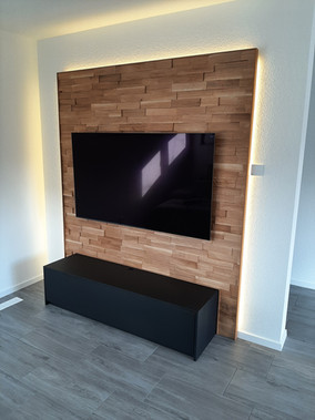 TV Rückwand & Sideboard