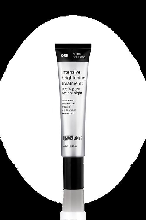 Intensive Brightening Treatment: 0.5% pure retinol night