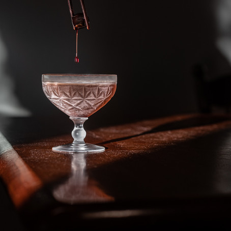 Black Manhattan by Daphnee Dee using Dillon's Small Batch Distillers products