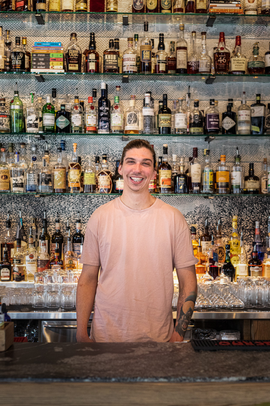 A portrait of Reece Michael Southern, bar manager at Proof, in Calgary (Alberta)