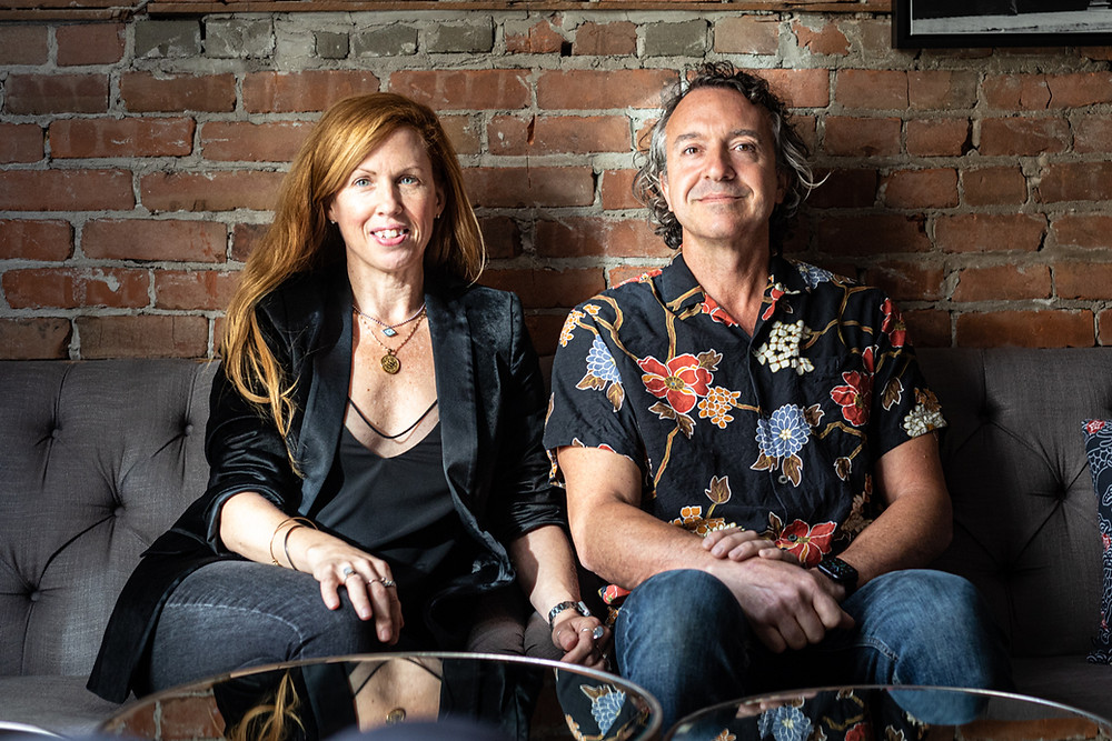 A portrait of Cher Diller and Jason Strohan, from Saskatoon (Canada), owners of Parlor and St Tropez Bistro.