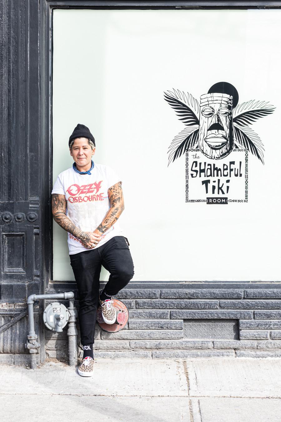 Portrait of Alana Nogueda, co-owner of Shameful Tiki