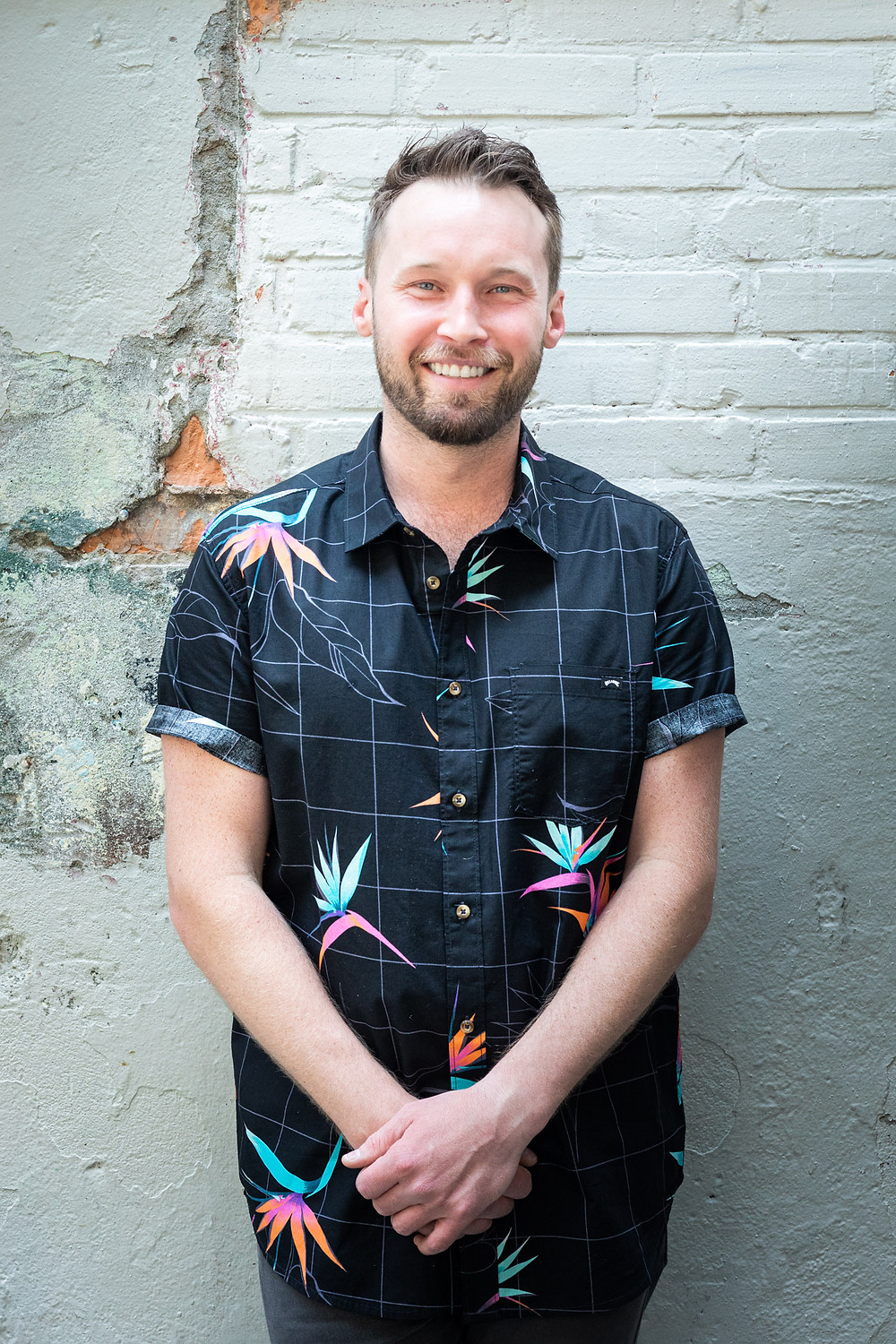 A portrait of David Bulters, head bartender at L'Abattoir in Vancouver