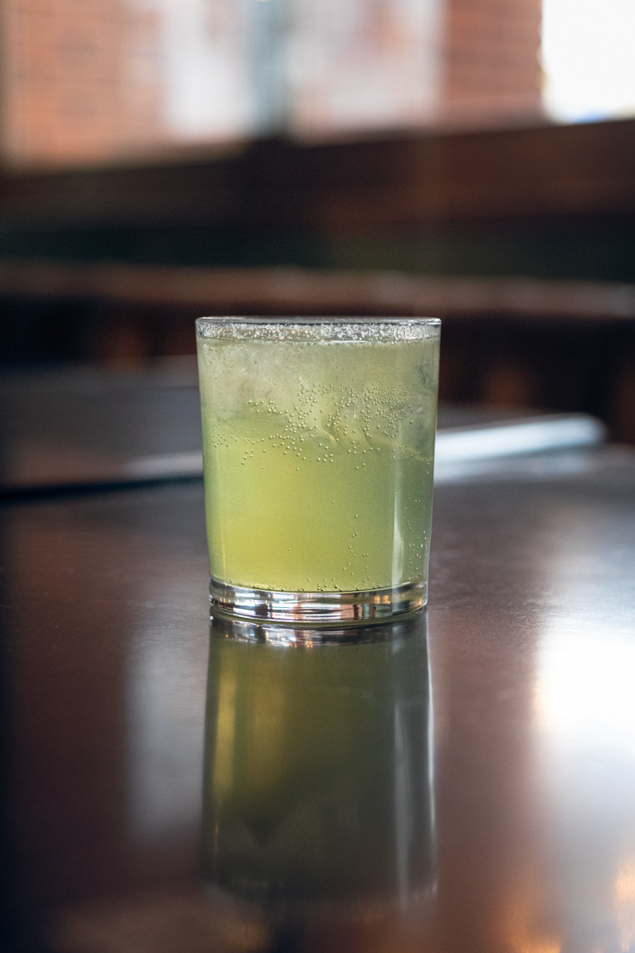 Cocktail Green Light, made by John Fairholm in Calgary.
