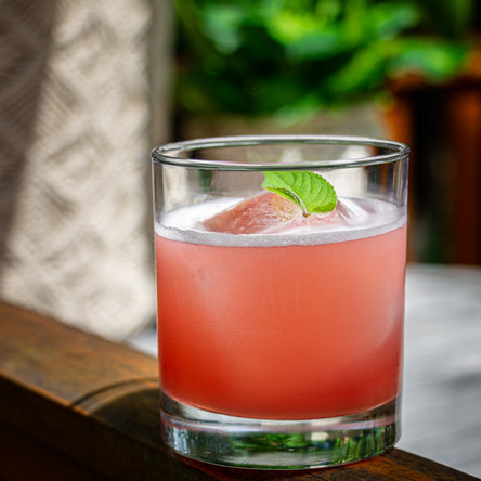 Ginger and Cranberry Gin Smash by Pat Plante