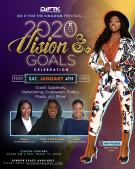 2020 Visions and Goals Celebration Flyer