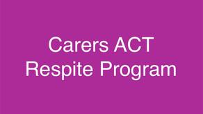 Carers ACT Respite Program