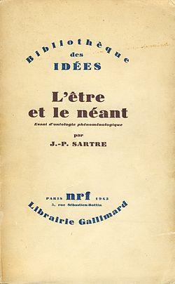 الطبعة الفرنسية الأولى لكتاب (الوجود والعدم)