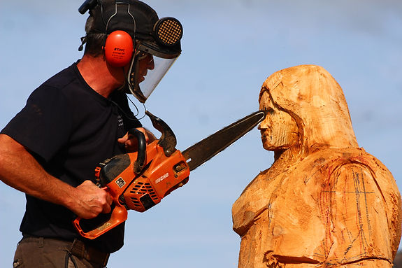 Fear na Coillte Chainsaw Sculptures St Eidin of Tumna, Carrick-in-Shannon
