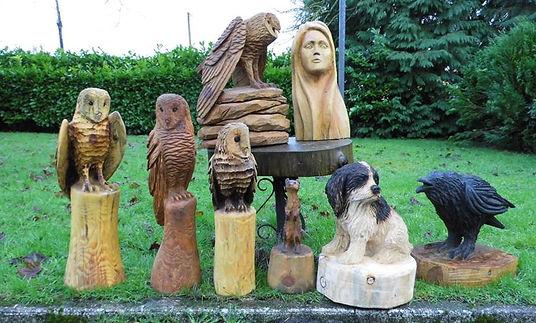 Fear na Coillte Chainsaw Sculptures Portfolio Smaller Pieces