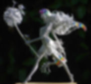 Wired to the Moon Unique Wire Sculptures Gardening Fairy with Dandelion