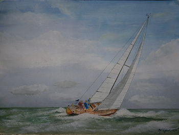 Mike Clifford, Mike's Art Studio, watercolour, sailing,  commissions, kerry, ireland