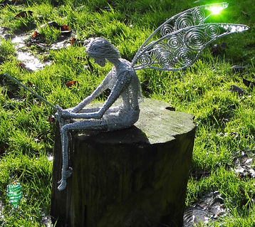 Wired to the Moon Unique Wire Sculptures Fisherman Fairy