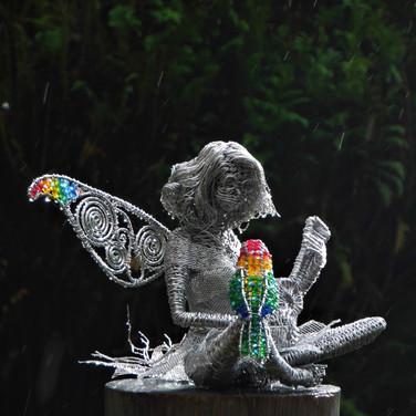 Fairy with Ukulele and Lovebird