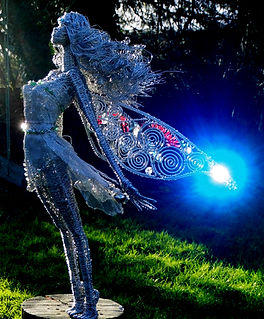 Wired to the Moon Unique Wire Sculptures Storm Fairy