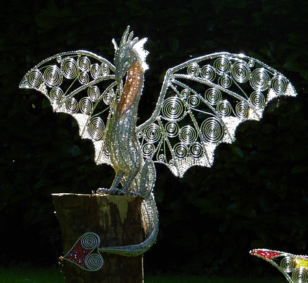 Wired to the Moon Unique Wire Sculptures Dragon