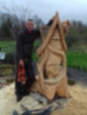Fear na Coillte Chainsaw Sculptures Fairy House