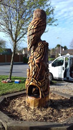 Owl Totem, Tralee, Co Kerry, Ireland