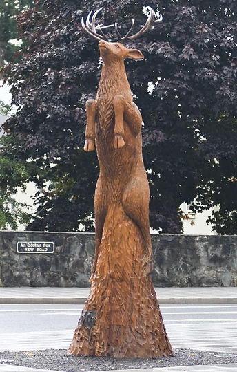 Fear na Coillte Chainsaw Sculptures Life size carving Red Deer Stag Killarney Co Kerry Ireland