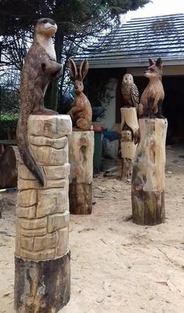 Irish Wildlife Totems - Playground, Dublin