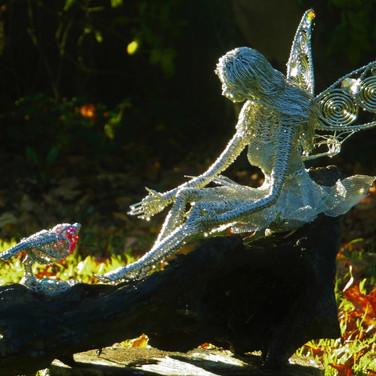 Fairy with Robin & Nest