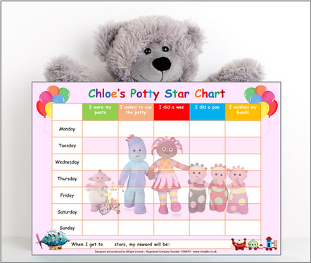 Potty or Toilet Training Reward Chart - ITNG