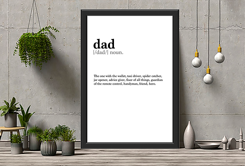 Personalised Dad Dictionary Definition Print