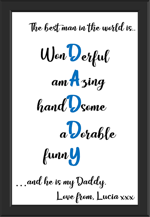 Personalised words to describe Daddy