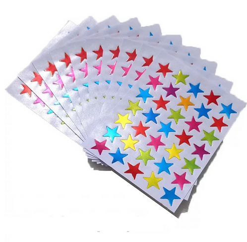 350 star stickers multi-colours