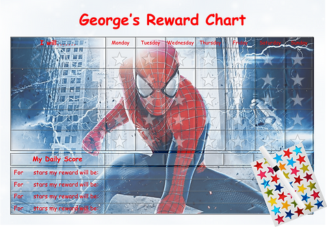 Good Behaviour Reward Chart -Spiderman