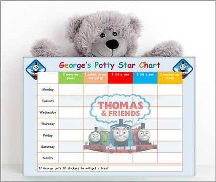 Potty or Toilet Training Reward Chart -TTT