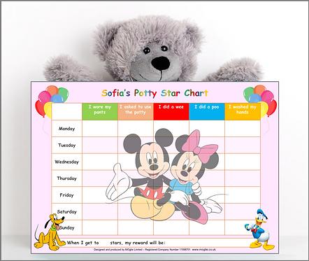 Potty Training Reward Chart - Mickey