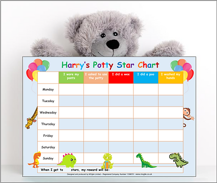 Potty Training Reward Chart -Dino