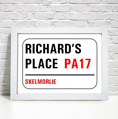 Personalised London Street Sign Gift