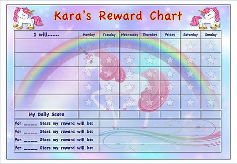 Good Behaviour Reward Chart - Unicorn