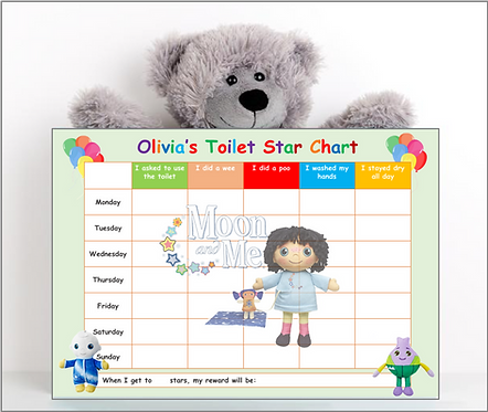 Potty Training Reward Chart - Moon