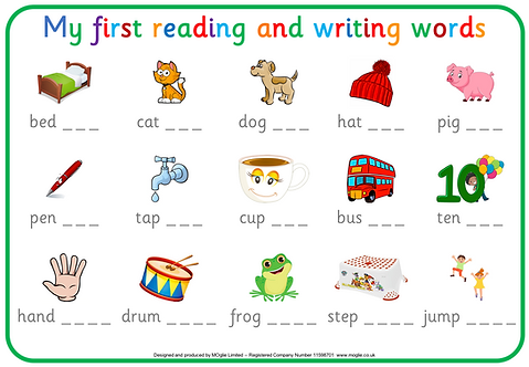 First reading and writing Words