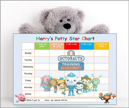 Potty Training Reward Chart - Oct