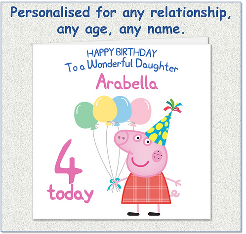 Personalised Child's Birthday Card - PP