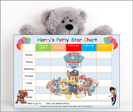 Potty Training Reward Chart - Paw