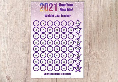 Weight Loss Chart - 2021 New Year New Me