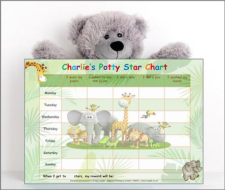 Potty Training Reward Chart - Jungle