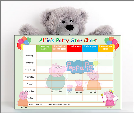 Potty or Toilet Training Reward Chart - PP2