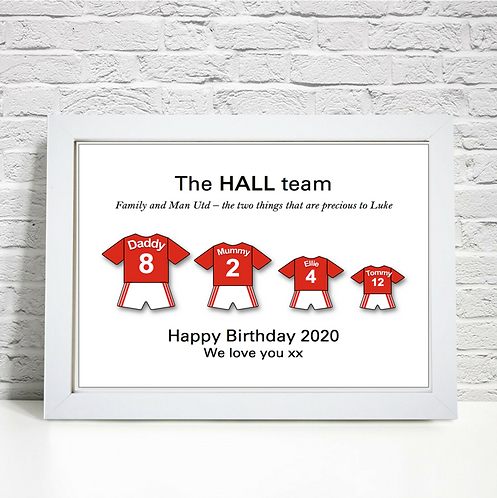 Personalised Football Family Print